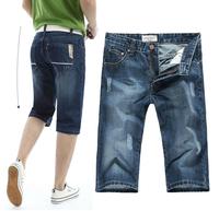 Men's denim shorts / jeans Half pants / Korean version of casual Slim Straight