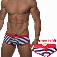 Sexy Men's swimwear male stripes Swim Trunks men listrada swimsuit S/M/L/XL striped swim shorts bikini swim suit men