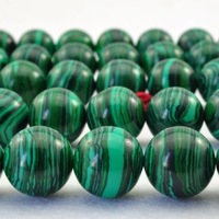"""Wholesale 4mm 6mm 8mm 10mm 12mm Malachite Gem Round Loose Spacer jwewlry Beads Gemstone Agate Beads15.5"""" Pick Size Free Shipping"""