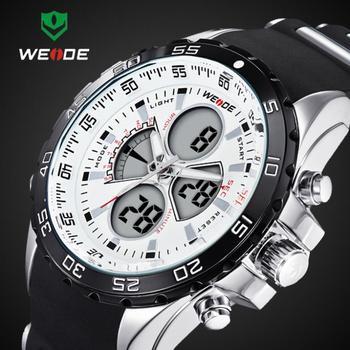 2015 последние 30 м водонепроницаемым WEIDE марка аналоговый наручные мужчины спортивные часы япония кварцевый механизм часы гарантия 1 год