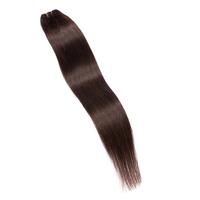 1 Pc #2 Dark Brown 12 14 16 18 20 22 24 26 Inches100G Straight Sew in Weft 100% Human Hair Extension Brazilian Virgin Hair