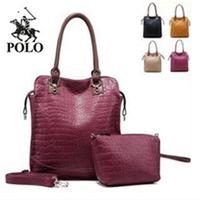 P-o-l-o2014 crocodile pattern  genuine leather women's handbag women's OL outfit bags
