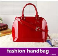 Freeship ! shell shaping Women's handbag  brand designer patent leather fashion Bridal vintage shoulder bag bolsas evening tote
