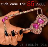 DIY rhinestone diamond case for women lady girl For Samsung galaxy S5 i9600 phone Free shipping