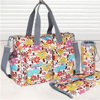 L0009 Multifunctional Nappy Bag Fashion Large Maternity Carters Diaper Baby Bags Carters Eco-Friendly Handbag Totes 6pcs/set