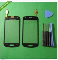 10pcs/lot  high quality touch screen for Samsung S7562/S7560 Galaxy Trend Duos touch screen with Back glue  (Black)