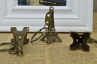 2015 top fashion crafts souvenirs Model of the Eiffel Tower Zakka 50pcs 5cm Antique Imitation Aluminum Alloy metal keychain