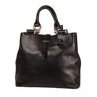 Genuine Leather First Layer Cowhide Soft Handle Women Handbag Tote Bag Messenger Bag Black New Style#HC022