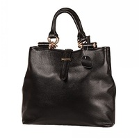 Genuine Leather First Layer Cowhide Soft Handle Women Handbag Tote Bag Messenger Bag Black New Style#HC022