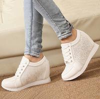 Womens Fashion Sneakers Woman Shoes Zapatillas Deportivas Mujer Platform White Wedge Women 2015 Sport High Top Casual Tenis Boot