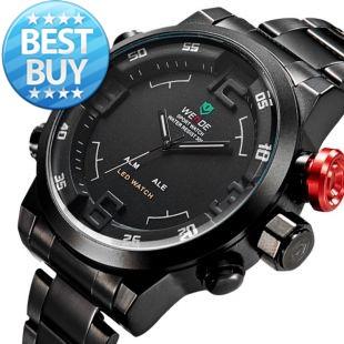 New Men's Watch Fashion Casual Watches Men Luxury Brand WEIDE Led Digit Watch Quartz Relogio Masculino Military Reloj Clock 2015(China (Mainland))