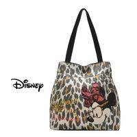 2014 hot wholesale sweet cute MINNIE MICKEY MOUSE leopard print canvas eco-friendly women's handbag shoulder bag free shipping