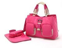 Baby diaper nappy bags with changing pad bolsa maternidade bolsa de bebe para women men messenger bags handbag  2014 Hot