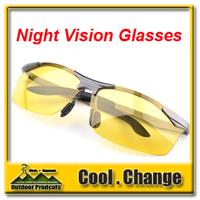 New 2014 High Quality Men Professional Polarized Night Vision HD Reduce Glare Silver/Black Frame Driving Glasses Sunglasses