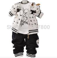 boys spring -autumn letter sport clothing sets 3pcs kids clothes sets children outwear baby boy sport suit set boy