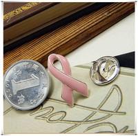 Free Shipping!! 10pcs/lot Pink enamel Breast Cancer Pink Ribbon Pins sliver Plating  Pins Hot selling