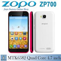 New Android original phone ZOPO ZP700 Mobile phone MTK6582 Quad Core 1G RAM 4.7 inch QHD 5.0MP Dual SIM Unlocked phone