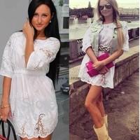 2014 Spring Girl dress brand lassie lace crochet chiffon casual dress irregular white dress SV002521 B003