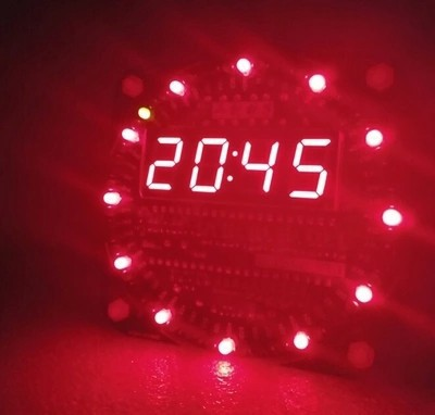 2015 newest 1pc Bluetooth Electronic clock kit spare parts LED digital display 51 MCU electronic clock kit temperature display(China (Mainland))