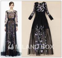 2014 runway dress women's High quality  brand dresses