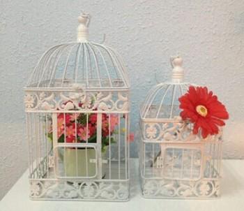 Мода утюг клетка украшения свадьба птичья клетка украшения белый для большой птичьей клетке