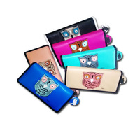 MFS fashion three-dimensional owl pattern 2014 new arrival women's zipper & hasp long clutch wallet coin purse card holder 9086