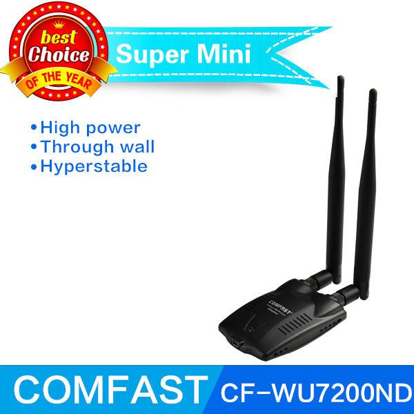 Ralink 3072 haute puissance 300 2mbps usb wifi signal de l'émetteur récepteur sans fil carte réseau lan adaptateur avec double 6 dbi antenne
