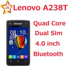 Quad Core Dual Sim 4.0 inch Original Lenovo A238T 800x480 android phone Dual camera Bluetooth Russian Language mobile phone(China (Mainland))