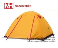 Naturehike NH 2 person double layer super light three season camping tent aluminum rod anti-storm Professional Series P2 1.9kg
