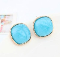 Trendy resin new earings ol style elegant women earrings minimalist fashion bridesmaid jewelry