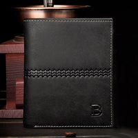 NEW! !HOT Embossed and letters Genuine Cow Leather Men Wallet brand cowhide Purse for male Free Shipping