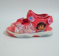 2014 New Summer Dora Flashing Light beach Shoes Princess Look Hoop Brand Designer Children's sandals kids For Girl Dora Sandal
