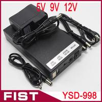 Multi-function 5V/9V/12V li-ion battery rechargeable battery YSD-998 freeshipping