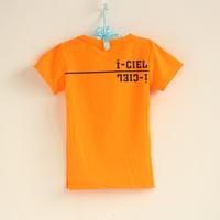 LittleSpring Retail Kids T-shirts! Boys girls solid summer 2014 t-shirt children's tees Short sleeve letter t shirt