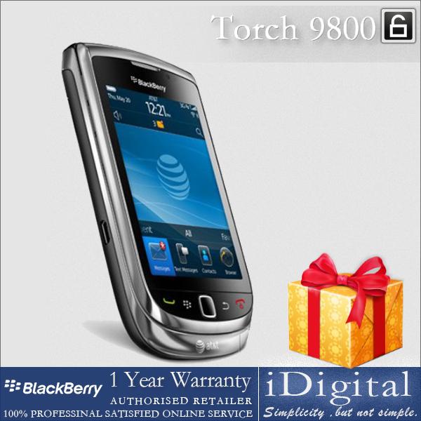 "Original BlackBerry Torch 9800 Unlocked 5.0MP Camera 3G WiFi GPS 3.2"" TFT Screen QWERTY Mobile Phone Factory Refurbished(China (Mainland))"