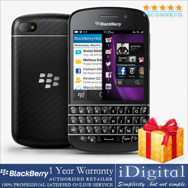 "Original Blackberry Q10 Unlocked 3.1"" QWERTY Keyboard Dual-core 1.5GHz RAM-2G 16GB 8MP GPS 3G WIFI Cell Phone Refurbished(China (Mainland))"