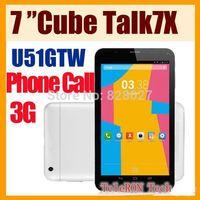 """Cube U51GT C4 / Cube Talk 7x 7"""" Tablet PC IPS MTK8382 dual core Quad Core dual sim card 3G Android 4.2 1GB RAM 8GB ROM Bluetooth"""