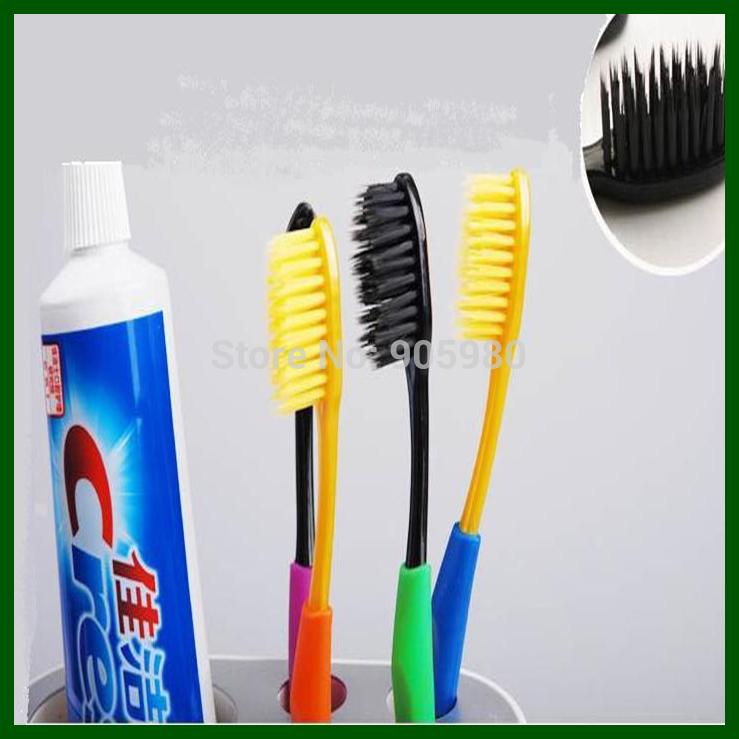 Взрослые зубная щётка ( 4 шт / упаковка ) корейский бамбуковый уголь зубная щётка все на складе 18,5 см * 1,2 см