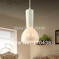 Perfectshow Minimalist 1-Light Mini Hanging Milk Glass Iron Pendant Light