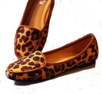 leopard print Moccasins female pans comfortable maternity  fashion flat shoes heel single casual shoes women
