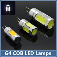 10x Mini G4 COB LED Lamp DC 12V 3W 5W 7W Crystal Corn RV Reading Boat Bulb Chandelier Spot Light Aluminum landscaping