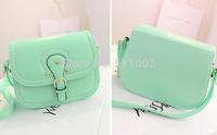 Vogue Candy Color Bling Messenger Bags Casual Elephant Shape Women Leather Handbags Korea Style Shoulder Bags