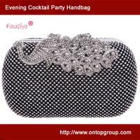 Diamond peacock closure fashion woman evening party handbag wedding clutch bag