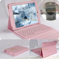 For iPad mini case Wireless Bluetooth Keyboard PU Leather Stand Case Cover For iPad Mini 1 2 3 &Free Shipping Free Stylus Pen