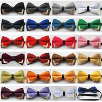 Yibei Coachella Ties New Design Double Layer Bow-Tie Adjustable Adults Bowties Tuxedo Bow tie Unisex butterflys Pre-Tied