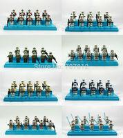 Wholesale 30PCS/Set  Star Wars Action Figure Cute Mini Clone Trooper 5CM PVC Building Blocks Collection Free Shipping