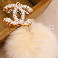Free Shipping! New Arrival Fashion C 10cm Fox Hair Ball Bag KeyChain Key Hanger Key Ring Key Chain for Women Jewelry