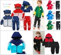 Retail Children twinset sportswear sport set jogging hooded jacket pants boy girls baby mickey minnie spring autumn clothes