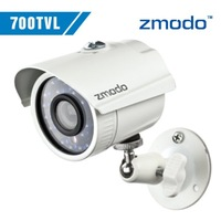 Zmodo Day/Night CCTV video Surveillance security Cameras CMOS 700tvl 960H 24pcs IR leds waterproof outdoor camera with bracket