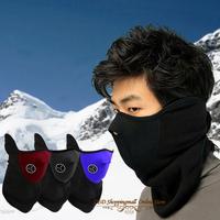 3pc/lot Neck warmers fleece Balaclavas CS Hat Headgear Winter Ski mask Ear Windproof Warm Face Mask Motorcycle Bicycle Scarfs